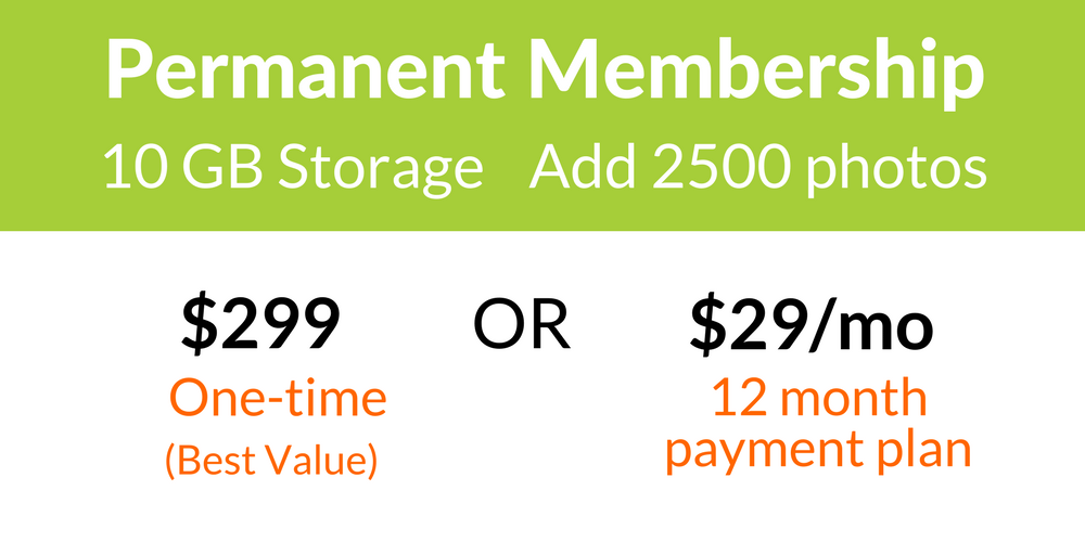 Forever.com Permanent Membership with 10GB Storage for 2500 Photos